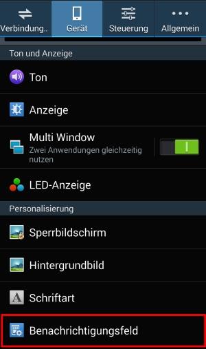 Einstellungen Android